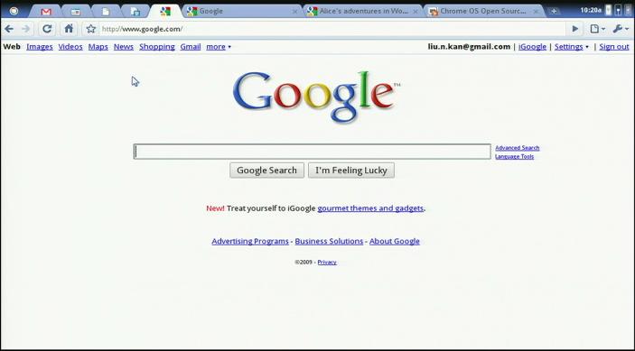google chrome os. Google Chrome OS: speed,
