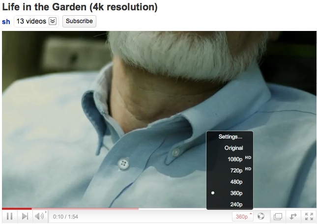 YouTube - Announces Support For 4K Video Resolution | NeoGAF