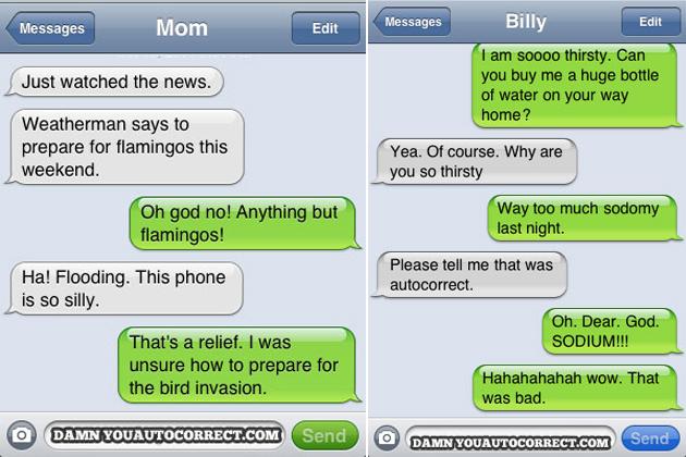 Auto correct fail otto text message