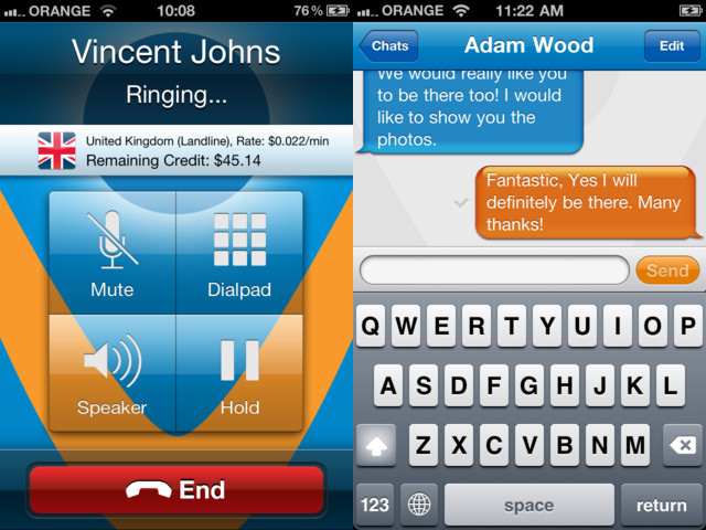 vonage mobile iphone Vonage brings free calling and messaging to iPhone, Android