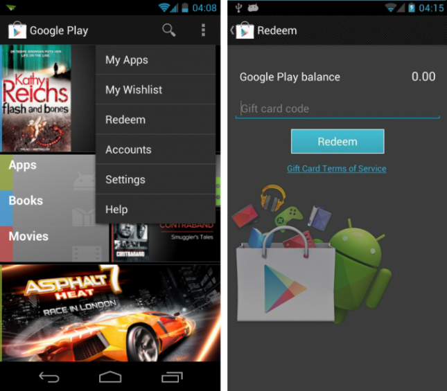 Gift Card 645x565 Googles Play Store is getting gift cards, wish lists