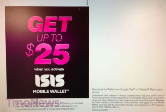 T-Mobile ISIS Mobile Wallet Launch