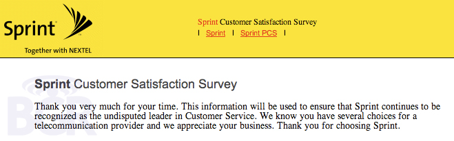 sprint customer serivce